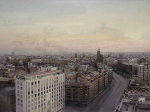 """""""Madrid desde Torres Blancas"""" (1976-1982), de Antonio López (www.revistadearte.com)"""